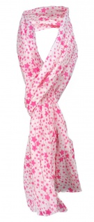 leicht gecrashter Schal pink rosa mit Sternenmotive gemustert - Gr. 180 x 50 cm