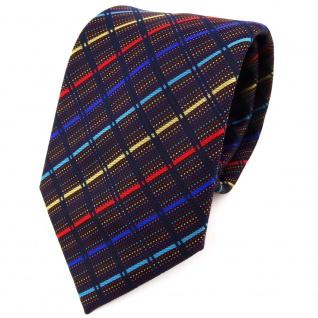 TigerTie Designer Krawatte in rot gold türkis blau schwarz gestreift - Binder
