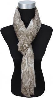 TigerTie Designer Schal in braun grau gemustert - Gr. 180 x 50 cm