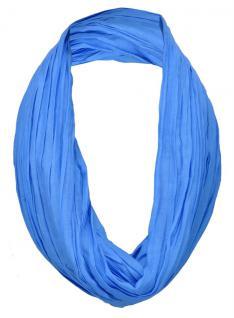 TigerTie Loop Schal in blau himmelblau einfarbig Uni - Schlauchschal Rundschal
