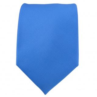 TigerTie Designer Krawatte blau himmelblau hellblau Uni Rips - Binder Tie - Vorschau 2
