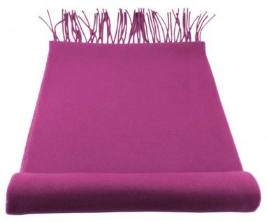 TigerTie Designer Schal in lila Uni einfarbig - Cashmink