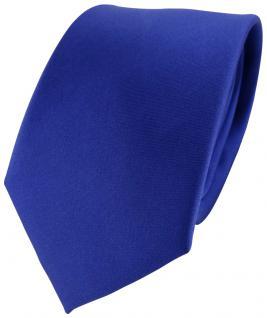TigerTie Satin Seidenkrawatte blau ultramarinblau Uni - Tie Krawatte Seide