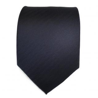 TigerTie Designer Krawatte in dunkelblau marine gestreift - Schlips Binder Tie - Vorschau 2