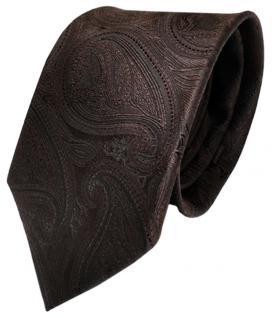 Schöne TigerTie Designer Krawatte braun dunkelbraun paisley Muster