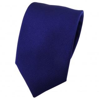 Seidenkrawatte marine Uni Rips - Krawatte 100% Seide - Breite 7cm x 150cm Länge