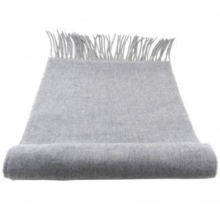 Feiner TigerTie Designer Schal in grau hellgrau einfarbig Uni - Cashmink