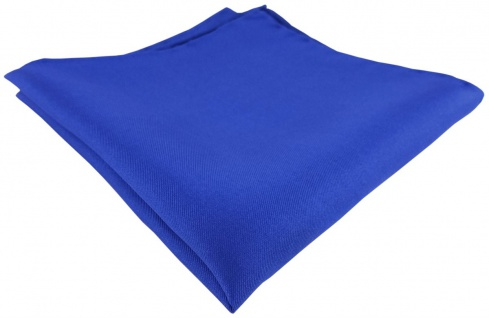 Einstecktuch handrolliert royal einfarbig Uni - 100% Seide - Gr. 30 x 30 cm