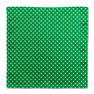 TigerTie Designer Seideneinstecktuch in grün weiss gepunktet - 100% Seide