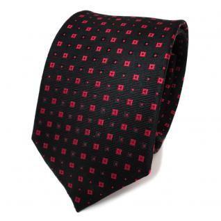 Designer Seidenkrawatte schwarz rot gepunktet - Krawatte Seide Silk Binder Tie