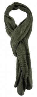 TigerTie Schal in olivegrün gemustert - Gr. 200 x 40 cm