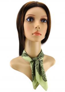 Damen Nickituch in grün olivgrün braun gemustert - Gr. 50x50 cm - Tuch Halstuch