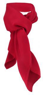 TigerTie Damen Chiffon Halstuch rot verkehrsrot Uni Gr. 90 cm x 90 cm - Schal