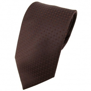 Designer Seidenkrawatte braun dunkelbraun gemustert - Krawatte Seide Binder