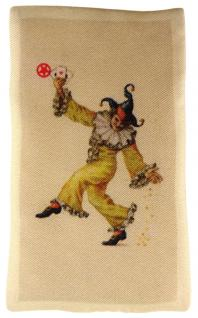 Ziertuch in Seide mit stabiler Einlage - 2er Set Spielkarten beige rot gemustert - Vorschau 4