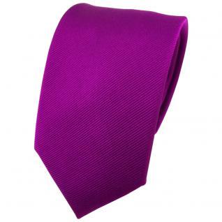 Seidenkrawatte lila Uni Rips - Krawatte 100% Seide - Breite 7cm x 150cm Länge