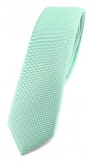 Modische schmale TigerTie Designer Krawatte in mint fein gepunktet