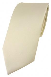 TigerTie Designer Krawatte in beige einfarbig Uni - Tie Schlips