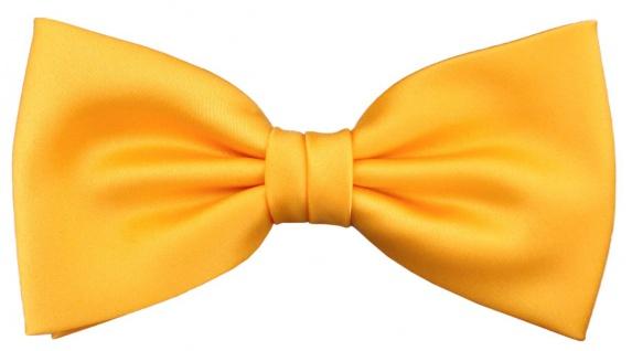 TigerTie Designer Fliege in gelb sonnengelb Uni + Geschenkbox
