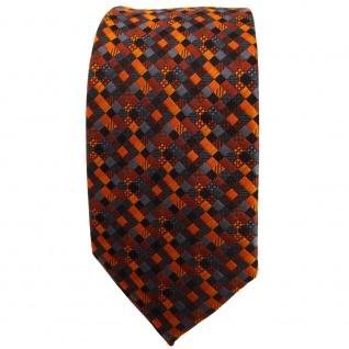 Schmale TigerTie Krawatte orange rotorange schwarz anthrazit grau gemustert - Vorschau 2