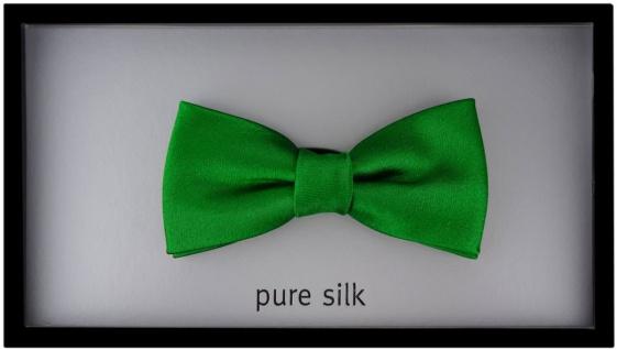 Kleinkinder Baby Seidenfliege in grün mit Gummizug - Fliege 100% Seide - Vorschau 3