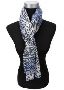 Viskose Schal in blau dunkelblau weiß gemustert - Gr. 180 x 50 cm - Halstuch - Vorschau