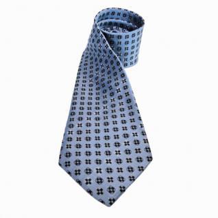 Mexx Seidenkrawatte blau schwarz gemustert - Krawatte 100% Seide Tie