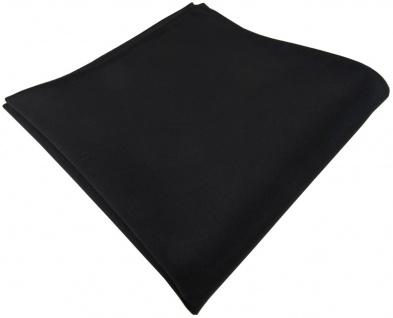 TigerTie Einstecktuch schwarz einfarbig Uni - Tuch Polyester - Größe 26 x 26 cm