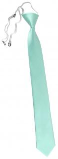 TigerTie Designer Sicherheits Krawatte in mint grün einfarbig Uni Rips