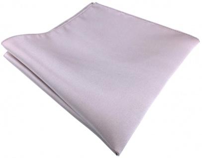 TigerTie Satin Seideneinstecktuch in silber grau - Einstecktuch 100% Seide