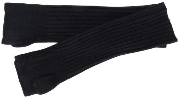 Strick Handstulpen Armstulpen in schwarz Uni - fingerlose Handschuhe Gr. M