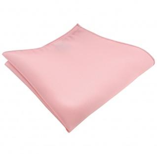 TigerTie Satin Einstecktuch in rosa Uni - Tuch 100% Polyester