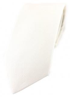 TigerTie Krawatte in cremeweiss Uni - 100% Baumwolle - Krawattenbreite 8 cm