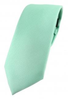 Modische TigerTie Designer Krawatte in mint fein gepunktet
