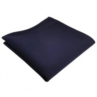 TigerTie Einstecktuch blau dunkelblau marine Uni Rips einfarbig Polyester