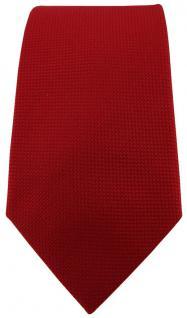 Blick. elementum Seidenkrawatte rot blutrot Punktstruktur - Krawatte 100% Seide - Vorschau 2