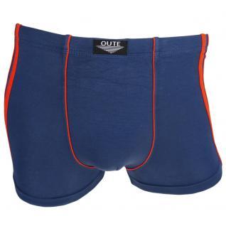 Boxershorts Pants Retro Shorts Unterhose blau rot Baumwolle Gr. M