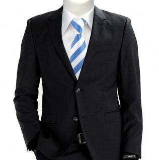 TigerTie Designer Krawatte in blau weiss gestreift - Vorschau 5