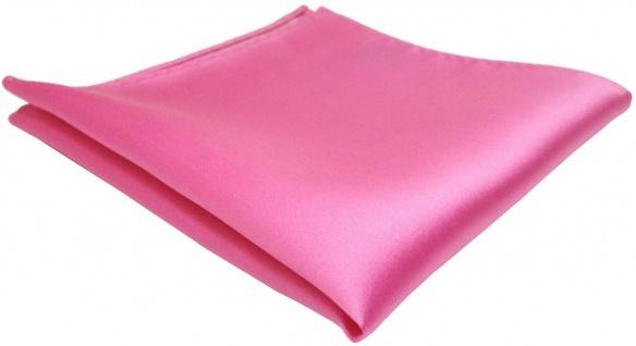 TigerTie Einstecktuch in rosa erikaviolett pink einfarbig Uni - Größe 26 x 26 cm