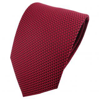 schöne Krawatte in rot weinrot schwarz gemustert - Krawatte Binder Tie