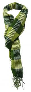 TigerTie Designer Schal in grün grasgrün hellgrün gemustert - Gr. 180 x 50 cm