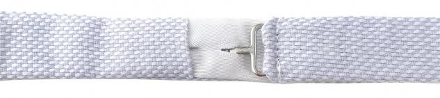 TigerTie Kleinkinder Baby Fliege hellgrau-weiß mit Sichtband + Tuch + Box - Vorschau 3