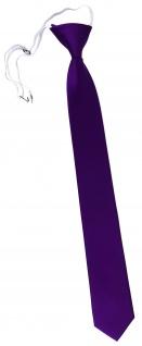 TigerTie Sicherheits Krawatte in lila violett einfarbig Uni Rips