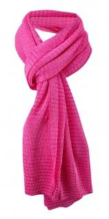 Damen Satin Schal Halstuch pink rosa gemustert Gr. 155 cm x 55 cm - Tuch