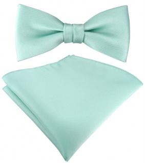 SET Kleinkinder Baby Fliege in mint grün Fliege verstellbar + Einstecktuch + Box - Vorschau