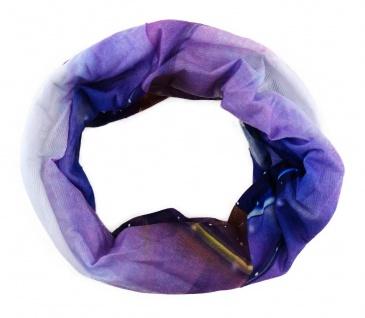 TigerTie Multifunktionstuch lila blau magenta weiss - Tuch Schal Schlauchtuch