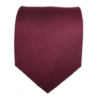 TigerTie Designer Krawatte rot dunkelrot schwarz gestreift - Schlips Binder Tie - Vorschau 2