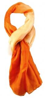 TigerTie Damen Seidenschal in orange einfarbig mit Farbverlauf - Gr. 160 x 90 cm
