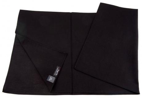 TigerTie Nickituch Halstuch schwarz Uni - Tuchgröße 60 x 60 cm - 100% Baumwolle