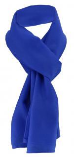 TigerTie Damen Chiffon Halstuch blau royalblau Uni Gr. 160 cm x 36 cm - Schal